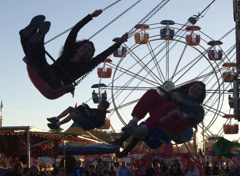 Visitors enjoy a ride at the Bobcaygeon Fall Fair
