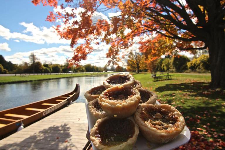 Stack of butter tarts along the Butter Tart Tour in Kawarthas Northumberland