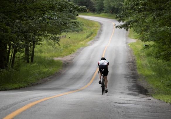 Road cyclist in Kawartha Lakes