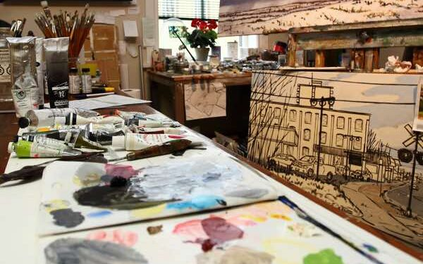 Interior of a Kawarthas Northumberland Art Studio