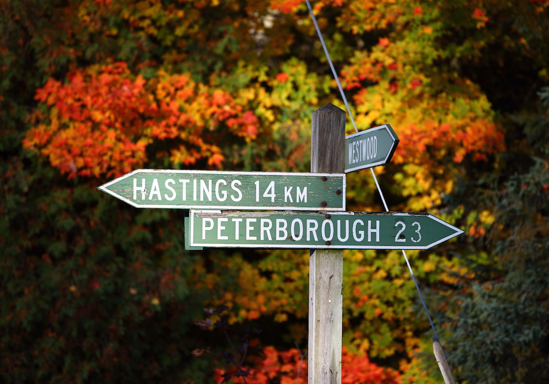 Road sign near Peterborough