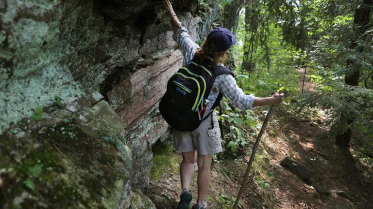 A hiker near Coboconk